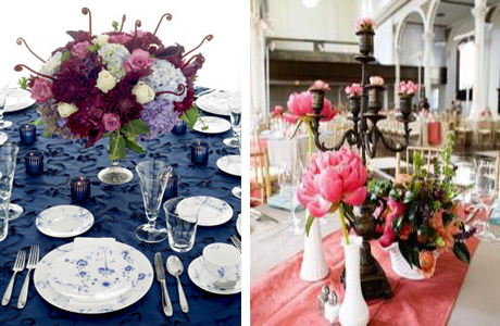Столы и скатерти на свадьбе