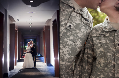 Свадьба в стиле Military: наряды