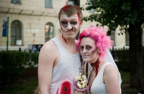 Свадьба в стиле зомби - фото