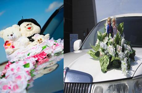 Украшения свадебного авто