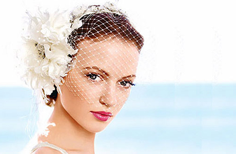 Свадебная прическа для коротких волос