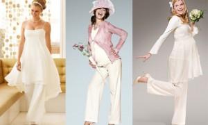 Свадебный брючный костюм для будущих мам