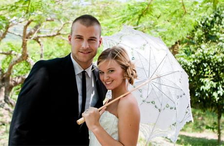 Свадебный зонтик для невесты
