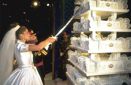 Свадебный торт королевы Рании и короля Абдуллы