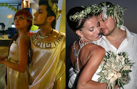 Выкуп невесты - свадьба в греческом стиле