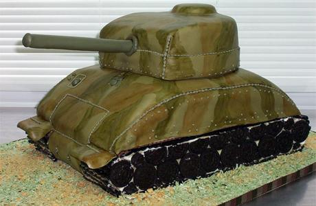 Военный свадебный торт
