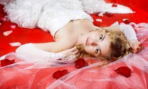 Ярко-красное постельное белье