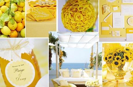 Оформление свадьбы в желтом