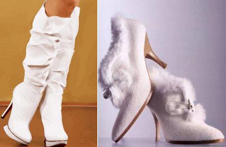 Зимняя обувь для невесты