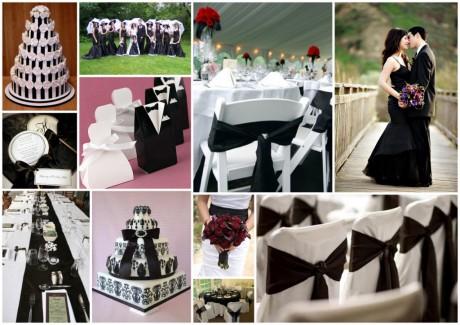 Декор свадьбы в черно-белых тонах