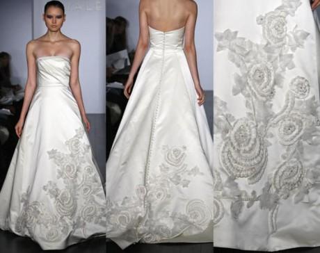 Дизайнерской свадебное платье с вышивкой