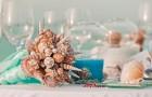 Морской свадебный букет