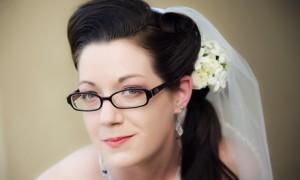 Очки – часть образа невесты