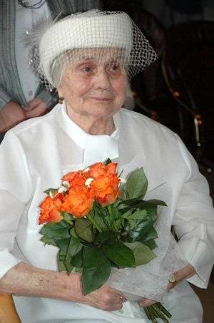 Одна из самых пожилых невест в мире
