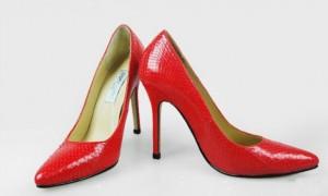 Остроносые туфли под змею