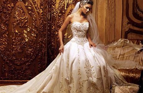 Платье невесты с вышивкой