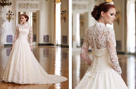 Платье невесты с длинными рукавами