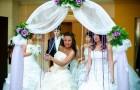 Рукотворная свадебная арка