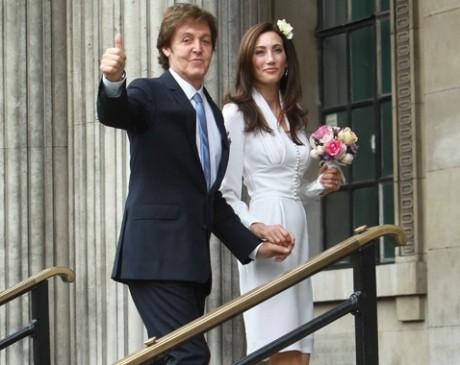 Свадьба Пола Маккартни и Нэнси Шевелл