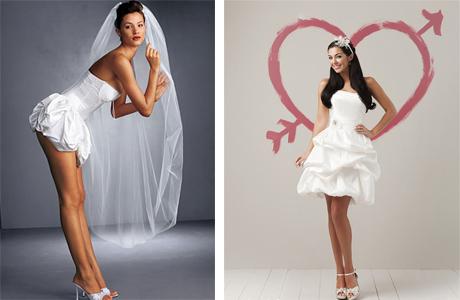 Свадебное платье мини
