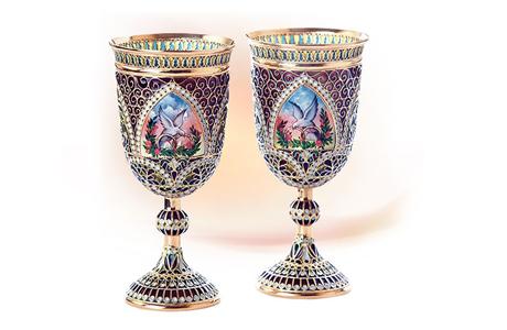 Свадебные бокалы из серебра