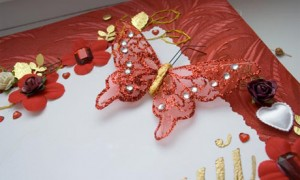Свадебные пригласительные в красном цвете
