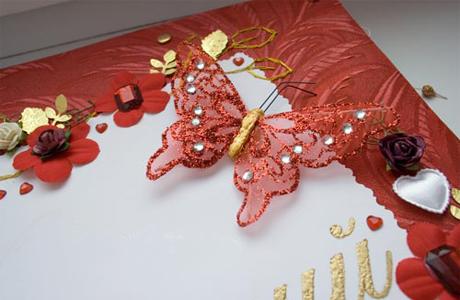 Свадебные пригласительные красного цвета