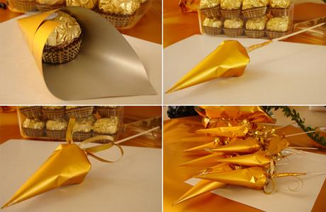 Свадебный букет из конфет