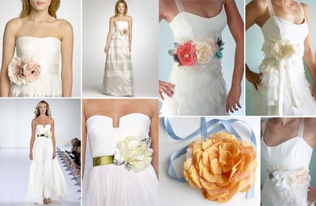 Цветочное оформление свадебных нарядов
