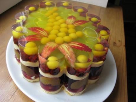 Свадебный торт-желе