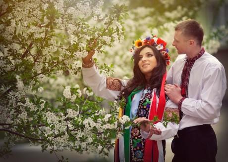 Украинские жених и невеста