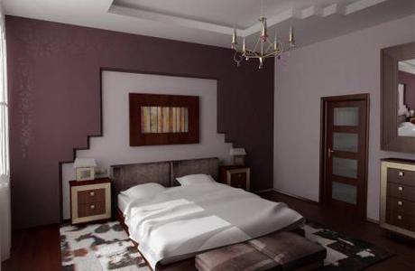 Высокий потолок в спальне