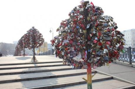Замки любви на деревьях