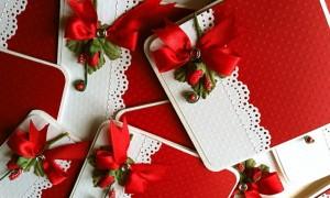 Зимние свадебные приглашения
