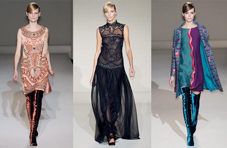 Свадебная мода 2012: сапожки Alberta Ferretti