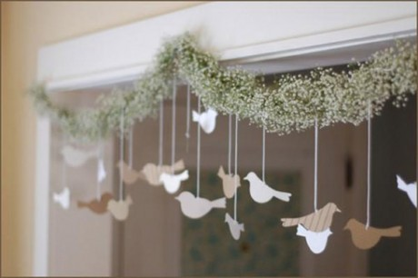 Бумажные голуби для свадьбы