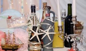 Бутылки для морской свадьбы