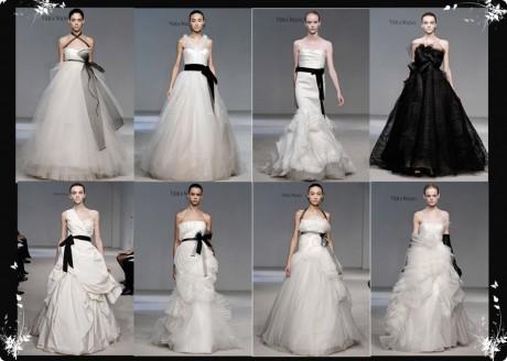 Черно-белая свадьба: платья от Веры Вонг