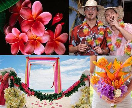 Гавайская свадьба - украшения