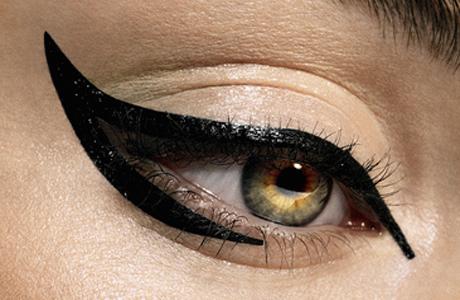 Кошачий взгляд - макияж глаз