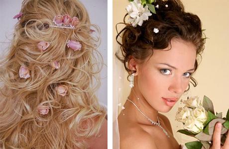 Свадебная укладка невесты