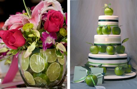 Лаймы и яблоки на свадьбу