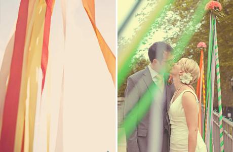 Ленты в свадебном декоре