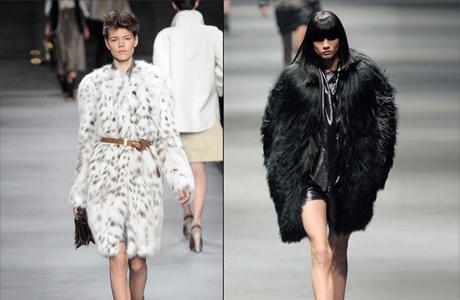 Мех в модных коллекциях 2011-2012