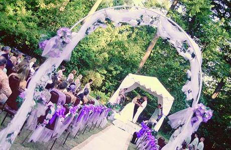 Цветные свадьбы - фиолетовый