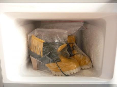 Обувь в морозилке