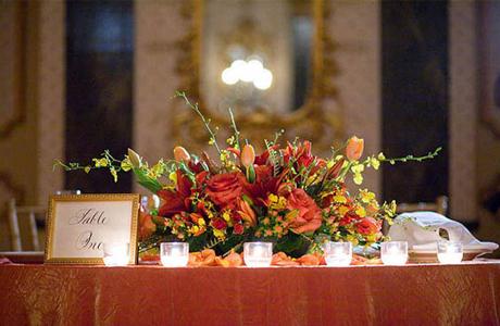 Октябрьская свадьба - цветы