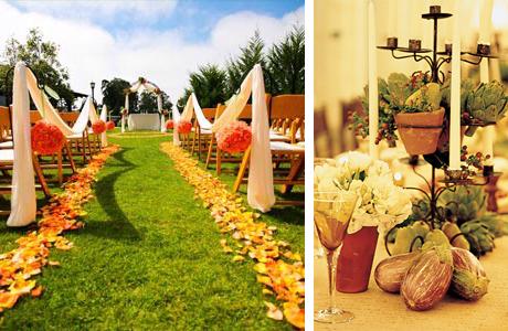Осенний декор для свадьбы