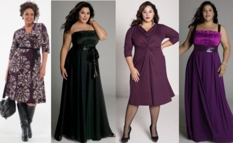 Стильные платья для полных
