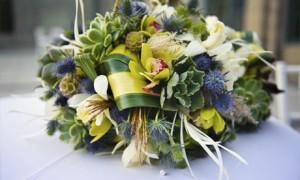 Суккуленты в свадебном букете